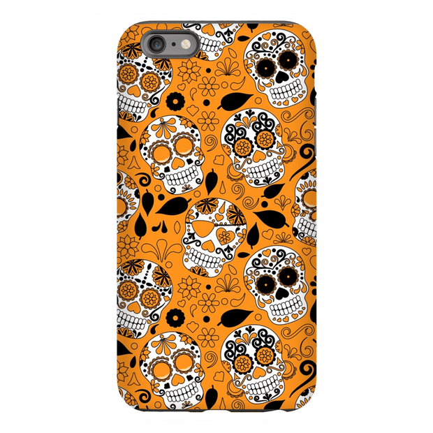 Orange Sugar Skulls iPhone 6/6s and 6 Plus Tough Case