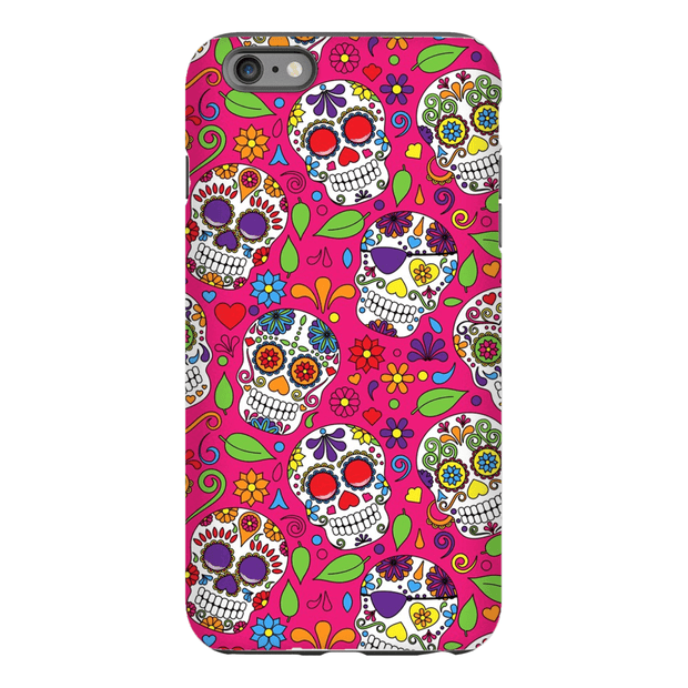 Pink Skulls iPhone 6/6s and 6 Plus Tough Case