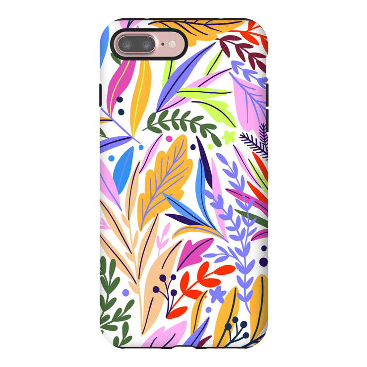 Pink Exotic Leaves iPhone 7 and 7 Plus Tough Case - Purdycase