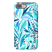 Turquoise Exotic Leaves iPhone 7 and 7 Plus Tough Case