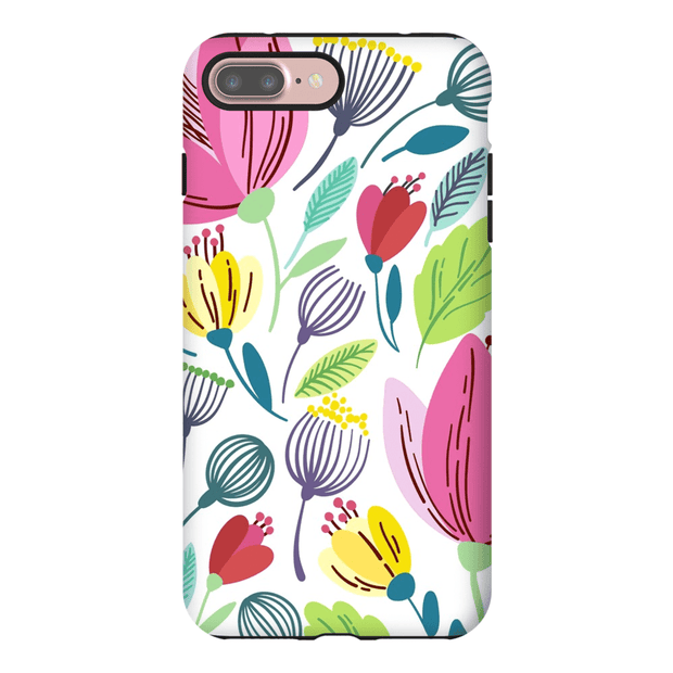 Pink Spring Leaves iPhone 7 and 7 Plus Tough Case
