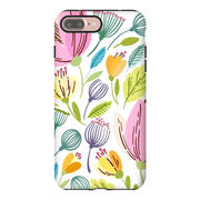 Pastel Spring Leaves iPhone 7 and 7 Plus Tough Case
