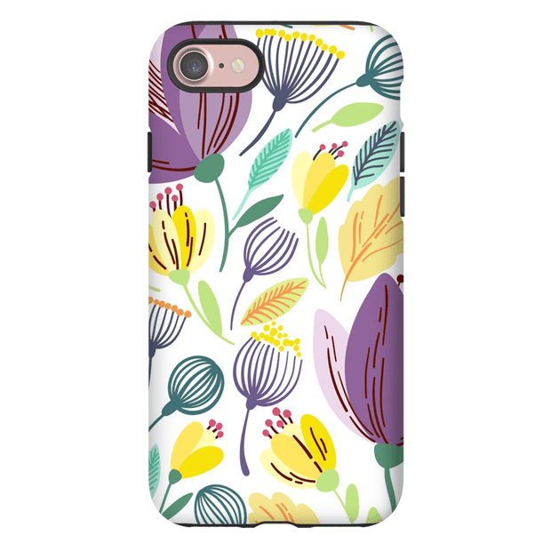 Purple Spring Leaves iPhone 7 and 7 Plus Tough Case