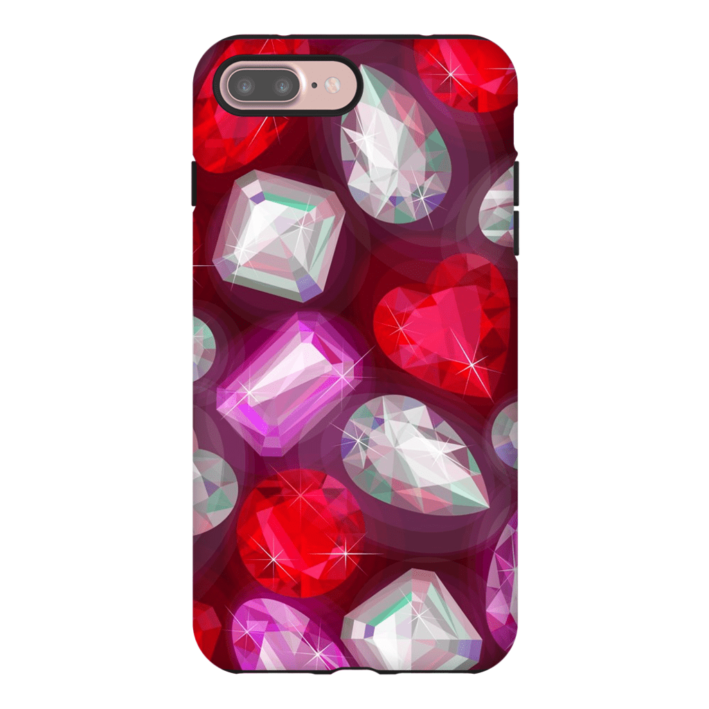 Diamond and Rubies iPhone 7 and 7 Plus Tough Case - Purdycase
