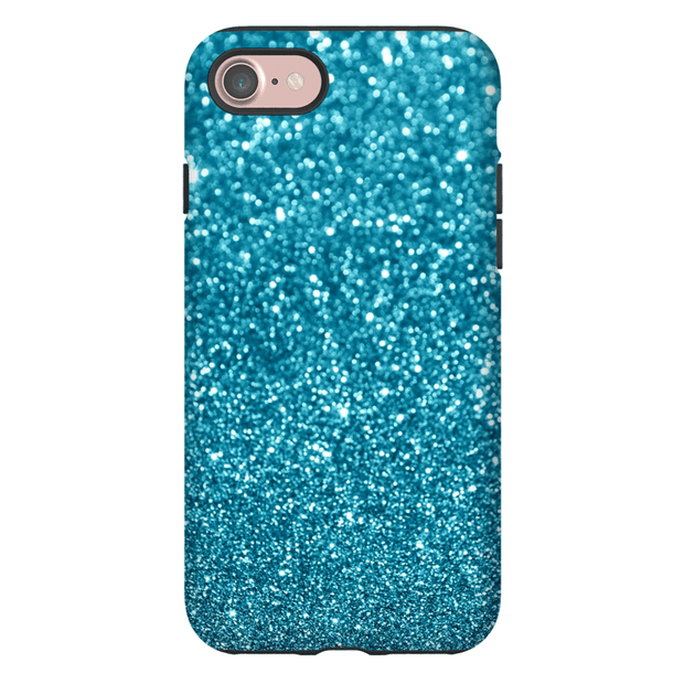 Turquoise Sparkle iPhone 7 and 7 Plus Tough Case
