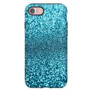 Turquoise Glitter iPhone 7 and 7 Plus Tough Case