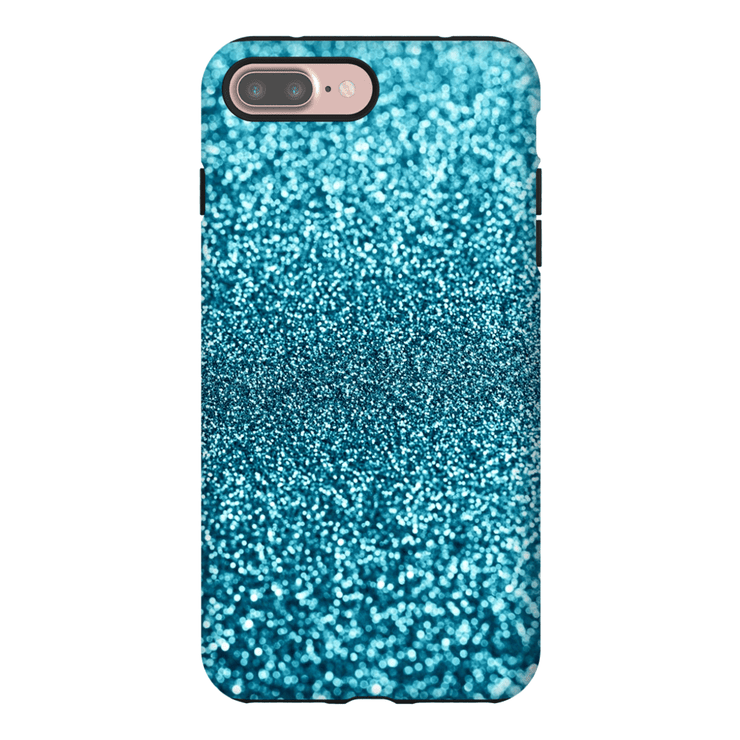 Turquoise Glitter iPhone 7 and 7 Plus Tough Case - Purdycase