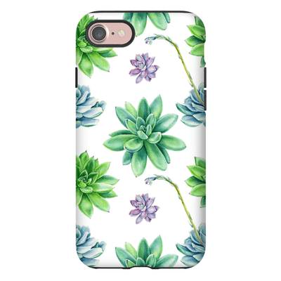Succulent Purple Pattern iPhone 7 and 7 Plus Tough Case - Purdycase