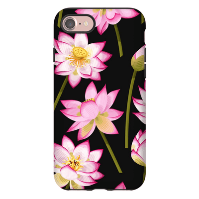 Black Garden Pattern iPhone 7 and 7 Plus Tough Case - Purdycase