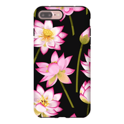 Black Garden Pattern iPhone 7 and 7 Plus Tough Case