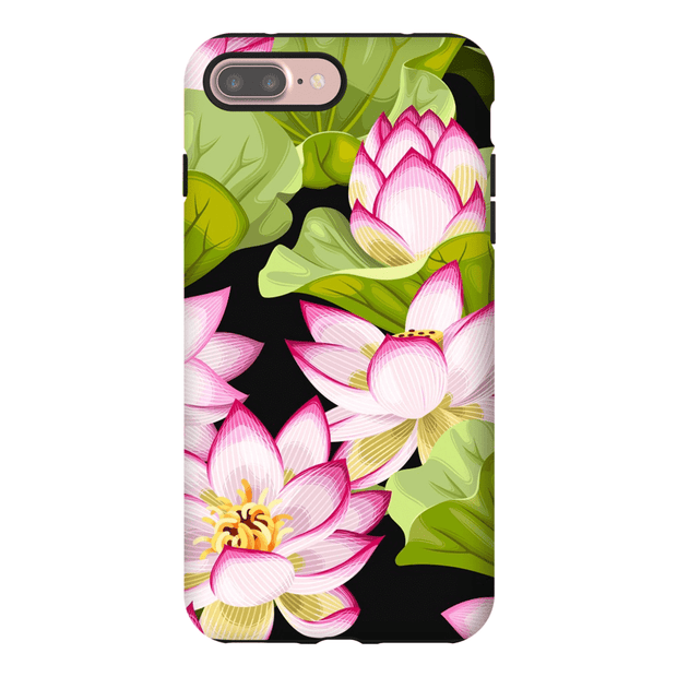 Pink Garden Pattern iPhone 7 and 7 Plus Tough Case