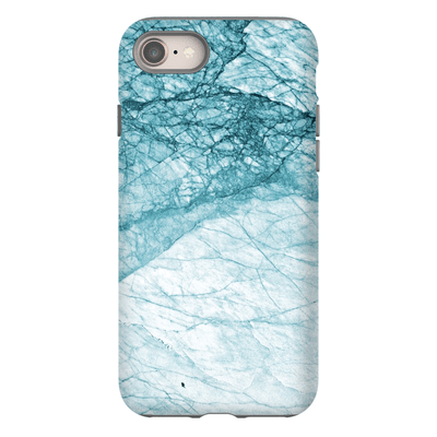 Turquoise Cracked Marble iPhone 8 and 8 Plus Tough Case - Purdycase