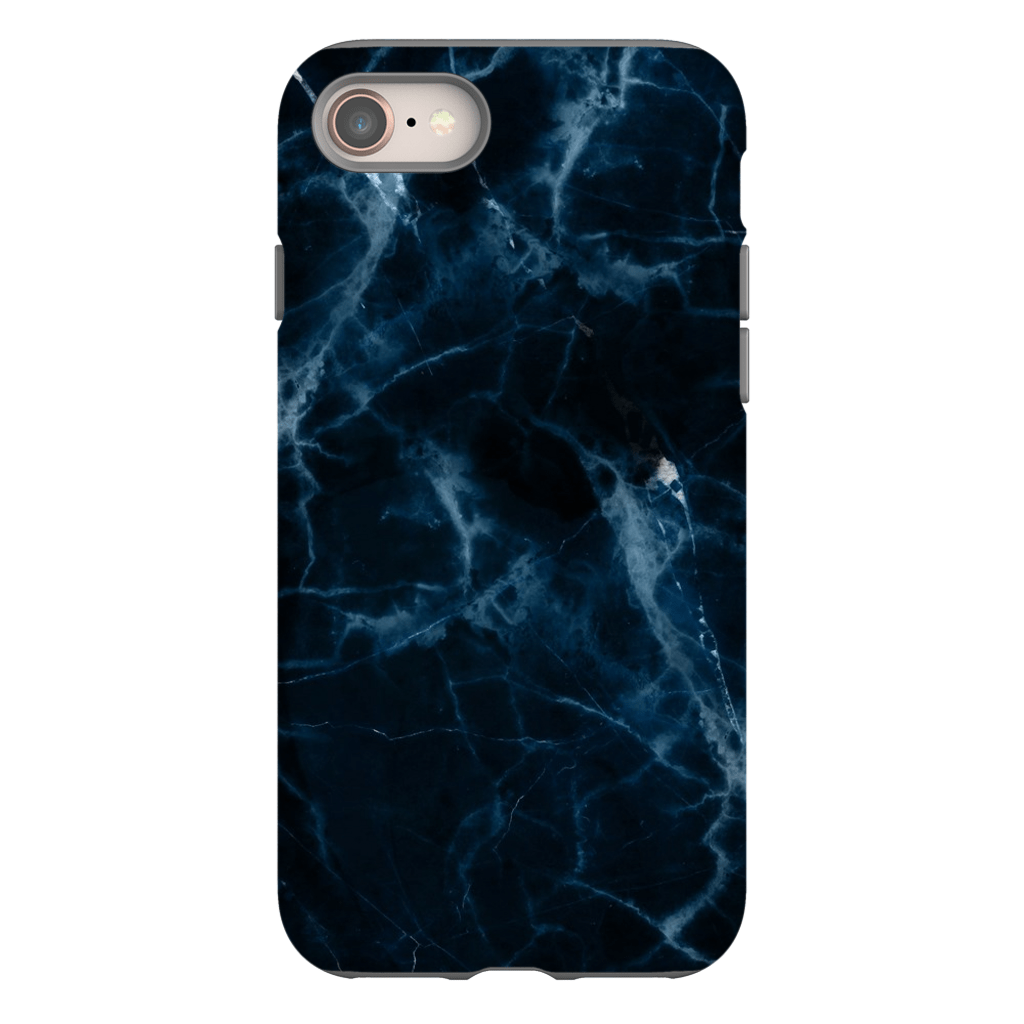 Dark Blue Marble iPhone 8 and 8 Plus Tough Case. - Purdycase