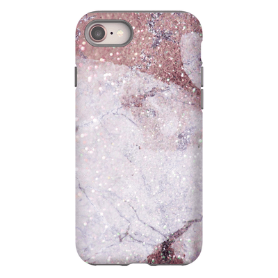 Pink Speckle Marble iPhone 8 and 8 Plus Tough Case - Purdycase