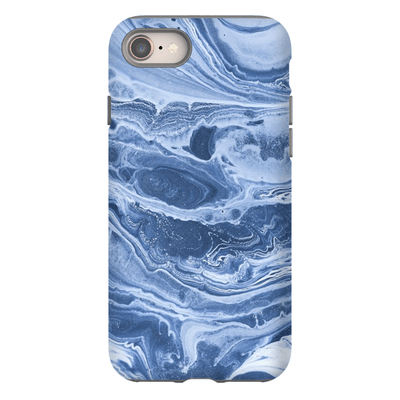 Blue Swirl Marble iPhone 8 and 8 Plus Tough Case - Purdycase