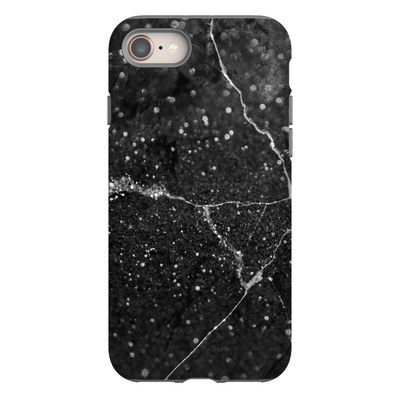 Black Speckle Marble iPhone 8 and 8 Plus Tough Case - Purdycase
