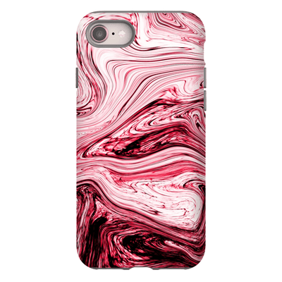 Dark Pink Marble iPhone 8 and 8 Plus Tough Case - Purdycase