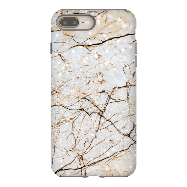 Brown Speckle Marble iPhone 8 and 8 Plus Tough Case - Purdycase