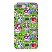Lime Skulls iPhone 8 and 8 Plus Tough Case