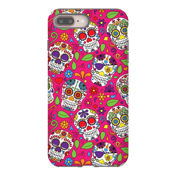Pink Skulls iPhone 8 and 8 Plus Tough Case