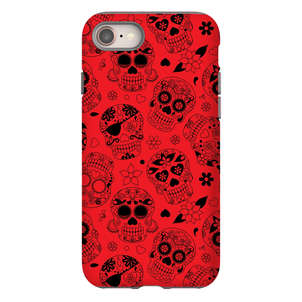 Red Skulls iPhone 8 and 8 Plus Tough Case - Purdycase