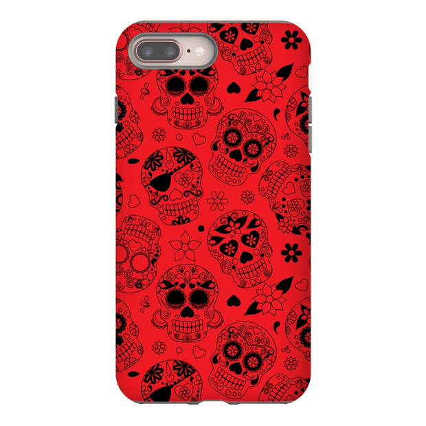 Red Skulls iPhone 8 and 8 Plus Tough Case