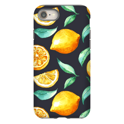 Black Lemon Fruit Slices iPhone 8 and 8 Plus Tough Case