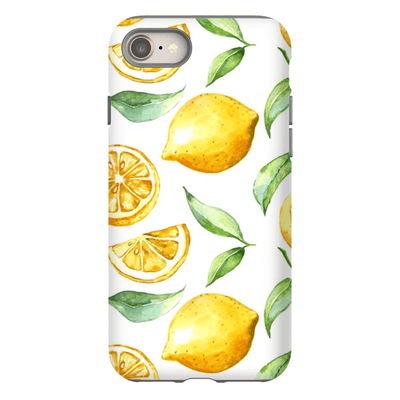 White Lemon Pattern iPhone 8 and 8 Plus Tough Case