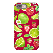 Lime Strawberry Pattern iPhone 8 and 8 Plus Tough Case