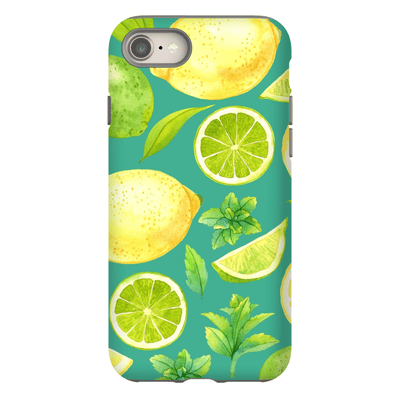 Green Lime Pattern iPhone 8 and 8 Plus Tough Case
