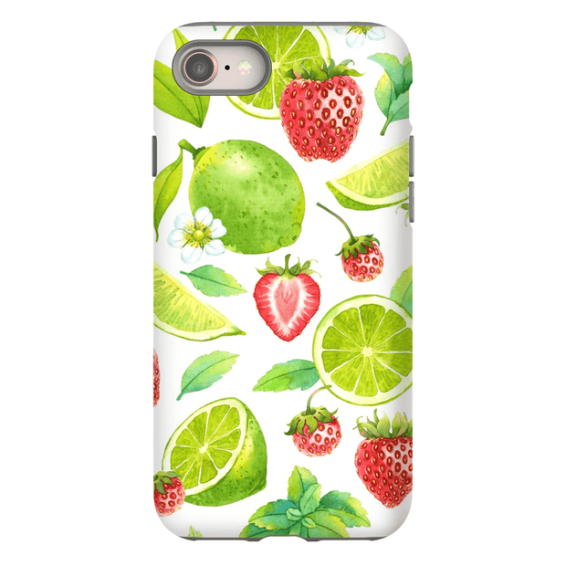 Strawberry Lime Pattern iPhone 8 and 8 Plus Tough Case