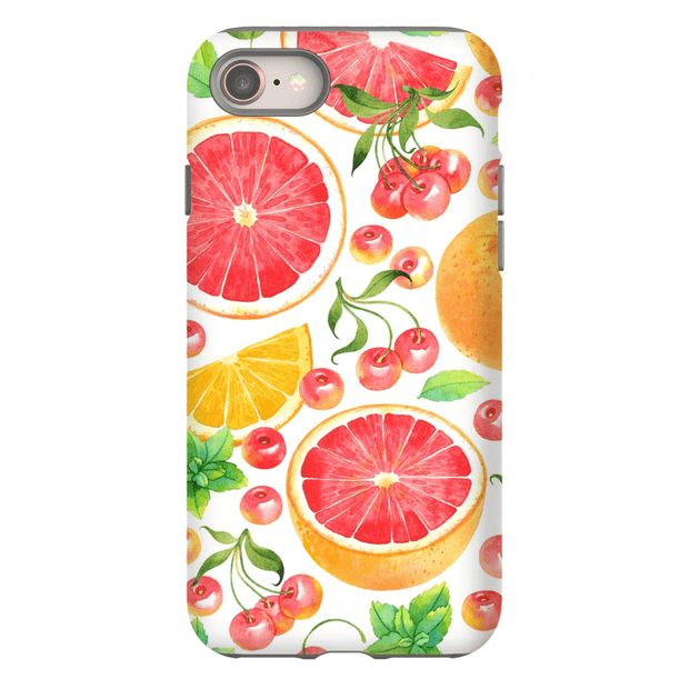White Grapefruit Pattern iPhone 8 and 8 Plus Tough Case
