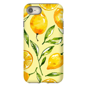 Yellow Lemon Pattern iPhone 8 and 8 Plus Tough Case