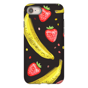 Banana Strawberry Pattern iPhone 8 and 8 Plus Tough Case