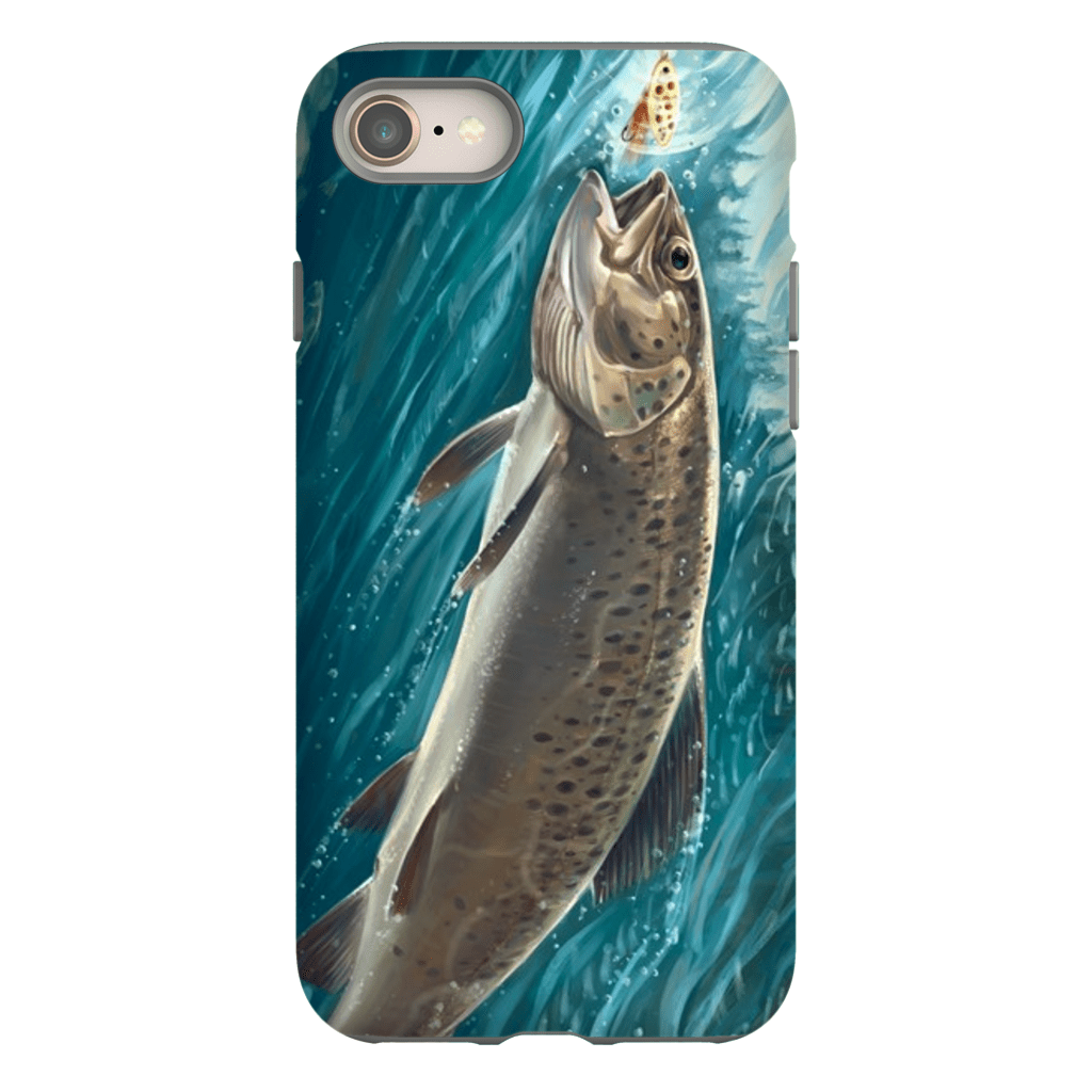 Trout Fish iPhone 8 and 8 Plus Tough Case - Purdycase