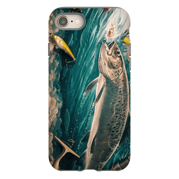 Trout Fishing iPhone 8 and 8 Plus Tough Case