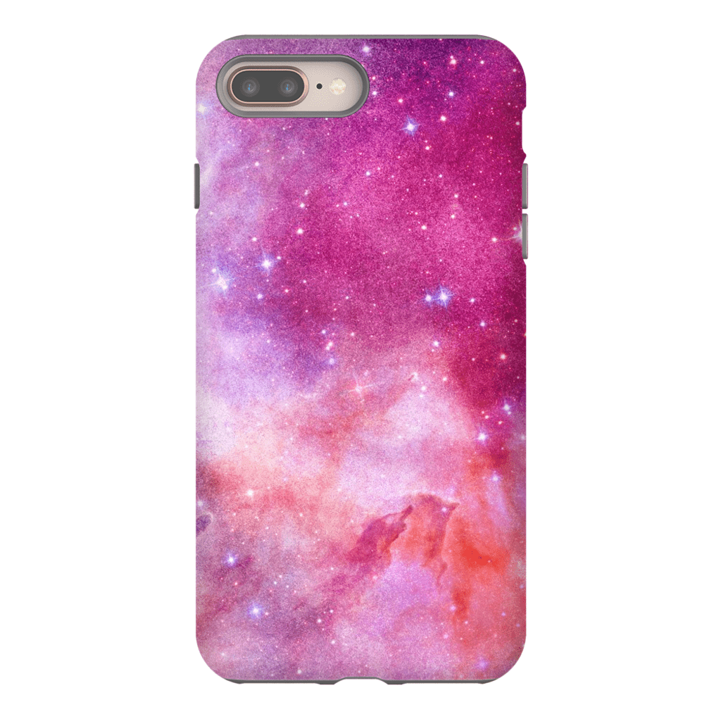 Pink Galaxy iPhone 8 and 8 Plus Tough Case - Purdycase