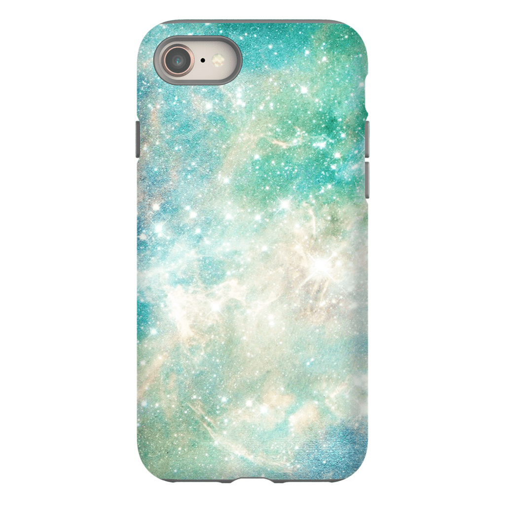 Turquoise Space iPhone 8 and 8 Plus Tough Case - Purdycase