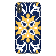 Blue Yellow Moroccan iPhone X-XS Max Series Tough Case - Purdycase