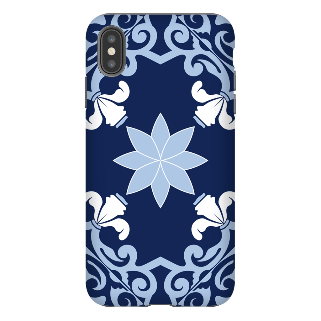 Moroccan Blue Star iPhone X-XS Max Series Tough Case - Purdycase