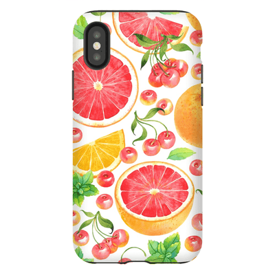 White Grapefruit iPhone X-XS Max Series Tough Case - Purdycase