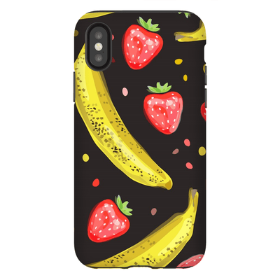 Strawberry Banana iPhone X-XS Max Series Tough Case - Purdycase