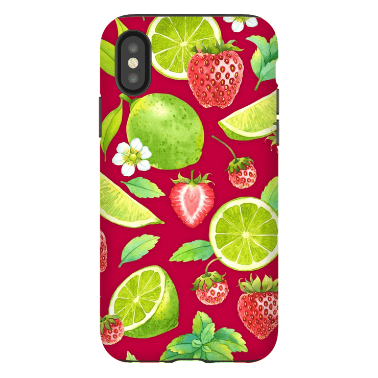 Strawberry Lime iPhone X-XS Max Series Tough Case - Purdycase