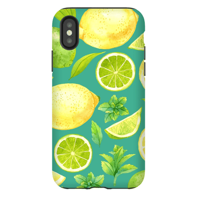 Lemon Lime Fruit iPhone X-XS Max Series Tough Case