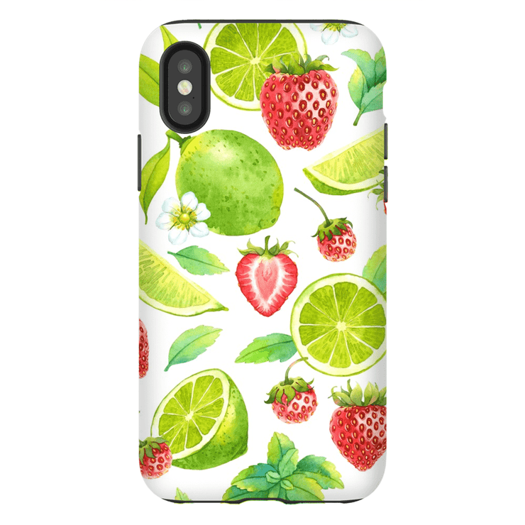 Strawberry Lime Pattern iPhone X-XS Max Series Tough Case - Purdycase