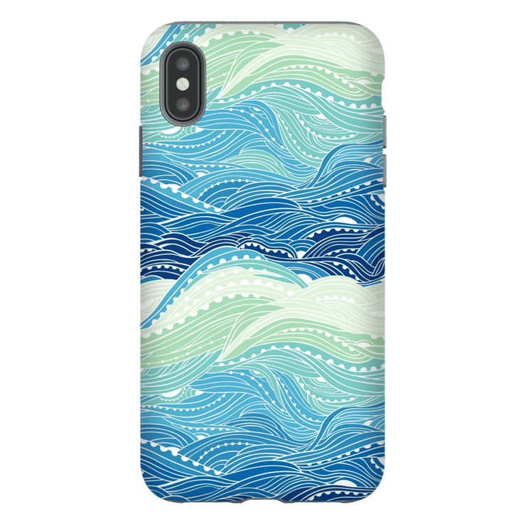 Waves iPhone X-XS Max Series Tough Case - Purdycase