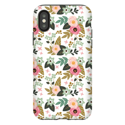 Pink Flower Pattern iPhone X-XS Max Series Tough Case - Purdycase