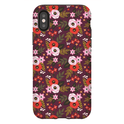 Rose Flower Pattern iPhone X-XS Max Series Tough Case - Purdycase