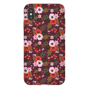 Rose Flower Pattern iPhone X-XS Max Series Tough Case
