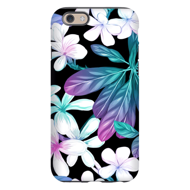 Midnight Tropical Flowers iPhone 6/6s and 6 Plus Tough Case
